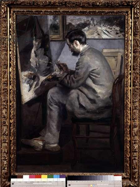Frederic Bazille (1841-1870): portrait by Pierre Auguste Renoir (1841-1919), 1867, Oil on canvas, Sun: 1,05x0,73m, Paris, Musee d'Orsay - Frederic Bazille (1841-1870): portrait by Pierre Auguste Renoir (1841-1919), 186,. Oil on canvas, 1,05 x 0,73m, Orsay Museum, Paris