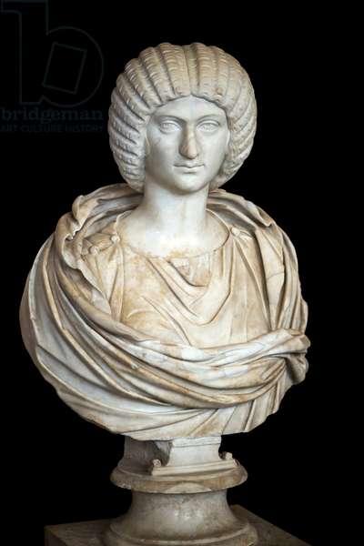Julia Domna (ca. 170 - 217 AD), marble, Roman art