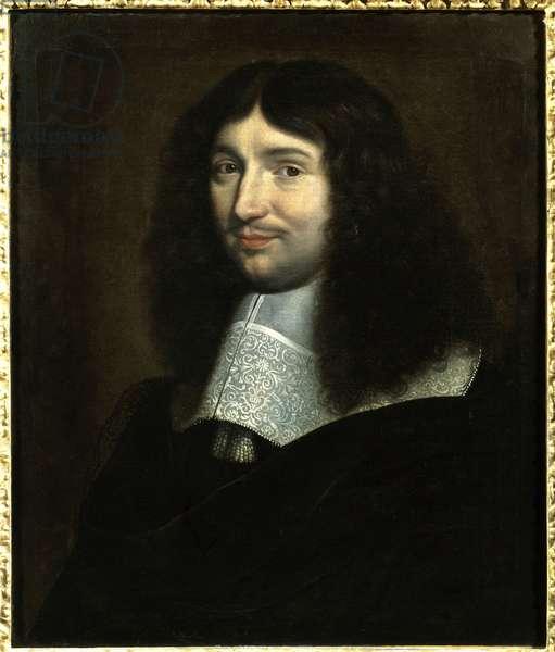 "Portrait of Jean Baptiste (Jean-Baptiste) Colbert (1619-1683), intendant of finance of Louis XIV"""" Painting by Philippe De Champaigne (1602-1674). Reims, Musee des Beaux Arts. Mention must be made: Reims, Musee Des Beaux Arts"