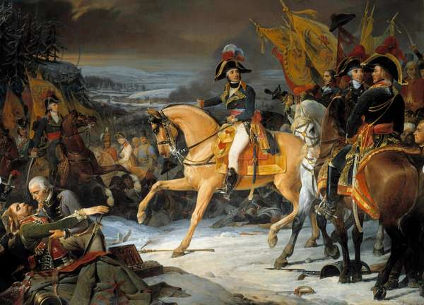 The Battle of Hohenlinden on December 3, 1800: victory of General Jean Victor (Jean-Victor) Moreau over Archduke Jean of Austria Painting by Frederic Schopin (1804-1880). 19th century. Dim. 4,65 x 5,43 m.  - The Battle of Hohenlinden, December 3, 1800: victory of the General Jean Victor (Jean-Victor) Moreau on the Archduke John of Austria. Painting by Frederic Schopin (1804-1880). 19th century. 4.65 x 5.43 m.