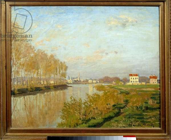 La Seine a Argenteuil. Painting by Claude Monet (1840-1926), 1873. Oil on canvas. Dim: 0.50 x 0.61m. Paris, Musee d'Orsay.