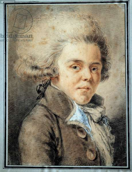 Portrait of Antoine de Rivarol (1753-1801) French polemist and writer Watercolour of the French school, 18th century. Versailles, Lambinet museum