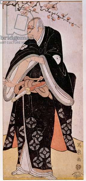 Representation of the actor Arashi Toyozo around 1794. Japanese print by Sharaku Toshusai (active 1794 - 1795). Paris, Guimet Museum, National Museum of Asian Arts