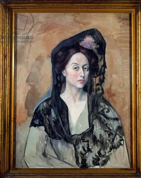 Portrait of Madame Canals, Wife by Ricardo Canals (1876-1931) Painting by Pablo Picasso (1881-1973) 1905 Barcelona, Musee Picasso