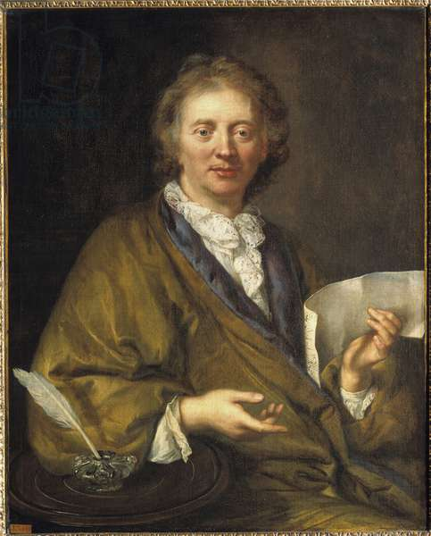 Portrait of Francois Couperin (1668-1733), dit Couperin le Grand, French composer and organist. Anonymous painting of the 17th century. oil on canvas, 90 x 73 cm. Versailles, Musee du chateau - Portrait of Francois Couperin (1668-1733), known as Couperin the Great, French composer and organist. Anonymous painting of the 17th century. Oil on canvas, 90 x 73 cm. Versailles Museum, France