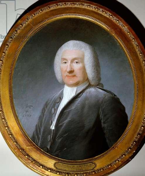 Portrait of Antoine de Sartine (1729-1801) police lieutenant of Louis XV Watercolour painting by Joseph Boze (1744-1826). 1787. Versailles, Chateau Museum