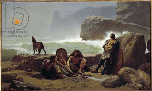 Gaulish odds guards. Painting by Jean Jules Antoine Lecomte Du Nouy (1842-1923), 1888. Oil on canvas. Dim: 0,76 x 1,26m. Paris, Musee d'Orsay