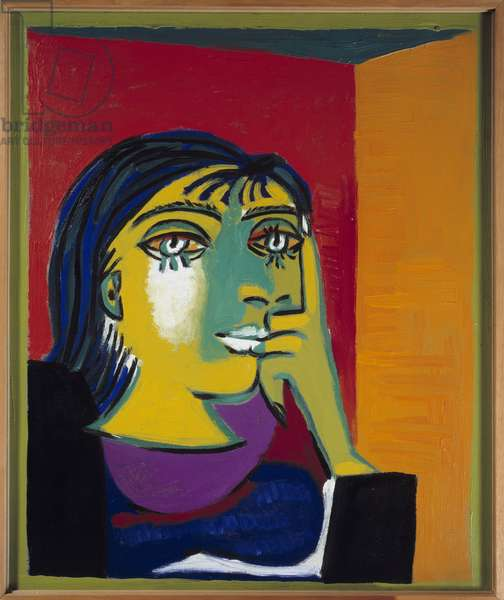 Portrait of photographer and painter Henriette Theodora Markovitch aka Dora Maar, 1937 (oil on canvas)