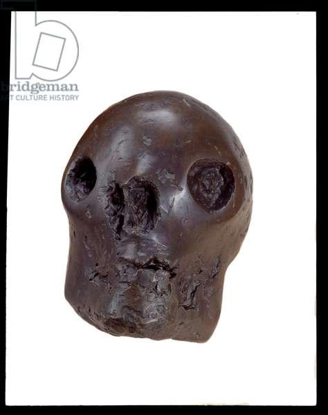 Skull head, 1943 (bronze & copper)