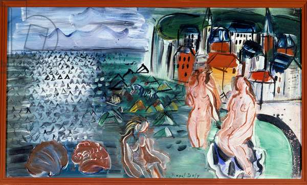 The Bay of Sainte-Adresse (Sainte-Adresse). Painting by Raoul Dufy (1877-1953), 20th century. Oil on canvas. Dim: 0,27 x 0,46m. Rouen, Musee des Beaux Arts.