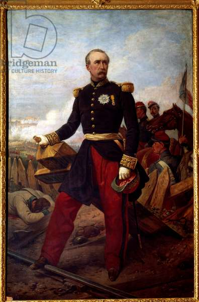 Portrait in foot of Patrice de Mac Mahon, marechal of France in 1859, Duke of Magenta (1808-1893) President of the Republic from 1873 to 1879 representative at the Battle of Magenta on June 4, 1859 Painting by Emile Horace Vernet (1789-1863) 1860 Sun. 2,2x1,43 m