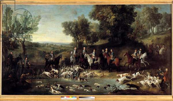 King Louis XV hunting deer in the forest of Saint Germain in 1730 Painting by Jean Baptiste Oudry (1686-1755) 1730 Toulouse, Musee des Augustins