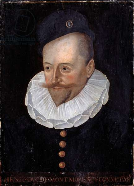 Portrait of Henri I Duke of Montmorency, Connetable of France (1534-1614) Painting of the French School of the 16th century. Dim. 0.31 x 0.22 m. Versailles, Castles of Versailles and Trianon