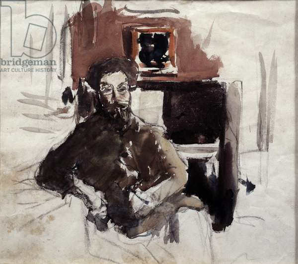 Self Portrait Painting by Pierre Bonnard (1867-1947) 20th century Private Collection