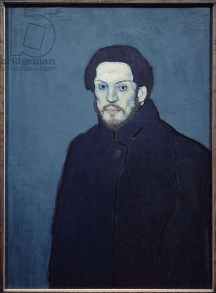 Self-portrait. Painting by Pablo Picasso (1881-1973), 1901. Oil on canvas. Dim: 0.81 x 0.60m. Paris, Musee Picasso.