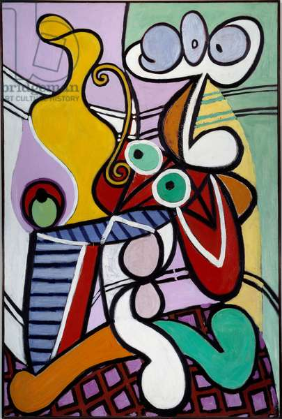 Great still life in the gueridon. oil on canvas. Dim: 1,95 x 1,30m. Painting by Pablo Picasso (1881-1973), 1931. Paris, Musee Picasso.