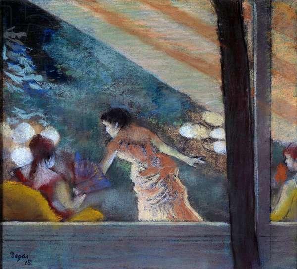 Le cafe concert des Ambassadeurs Pastel sur l'eau forte d'Edgar Degas (1834-1917) 1885 Dim. 0,26x0,29 m Paris, musee d'Orsay
