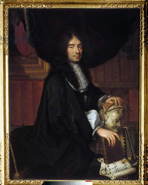 Portrait of Charles Perrault (1628-1703) French writer Painting by Philippe Lallemant (1636-1716) 1672 Sun. 1,3x1 m.