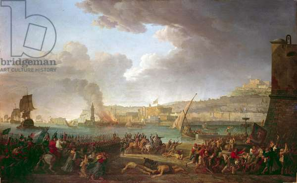 Entry into Naples of the French army commanded by the General Championet January 21, 1799 Painting by Jacques Taurel (1757-1832) 19th century Sun. 1,59 x 2,57 m