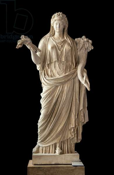 Art Rome Portrait of the Empress Livia Figured in Ceres (58 BC - 29 AD) marble