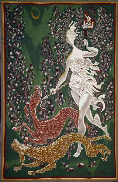 Diane tapestry by Marc Saint Saens (1903-1979) 1944 Paris, Galerie La Demeure