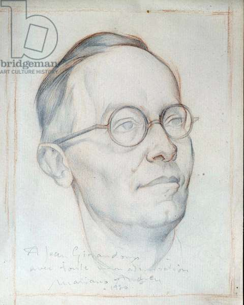 Portrait of the playwright Jean Giraudoux (1882-1944), 1930
