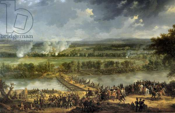 """First campaign of Italy (1796-1797): """""""" Battle of the bridge of Arcole, from 15 to 17/11/1796"""""""" Detail. Painting by Louis Albert Guislain Bacler d'Albe (1761-1848) 19th century Sun. 1,9x3,5 m."""