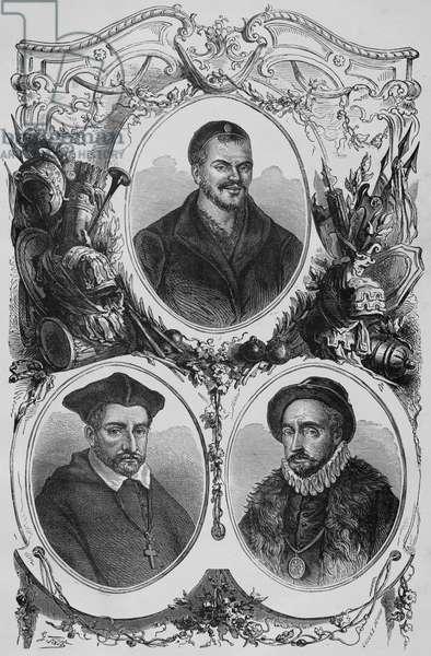 Portrait of Rabelais, Jacques Amyot, Michel Montaigne