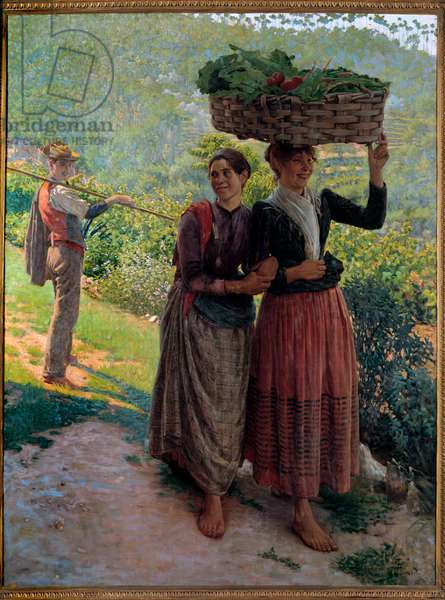 Life in the countryside, Scene of seduction in the vineyards of Tuscany