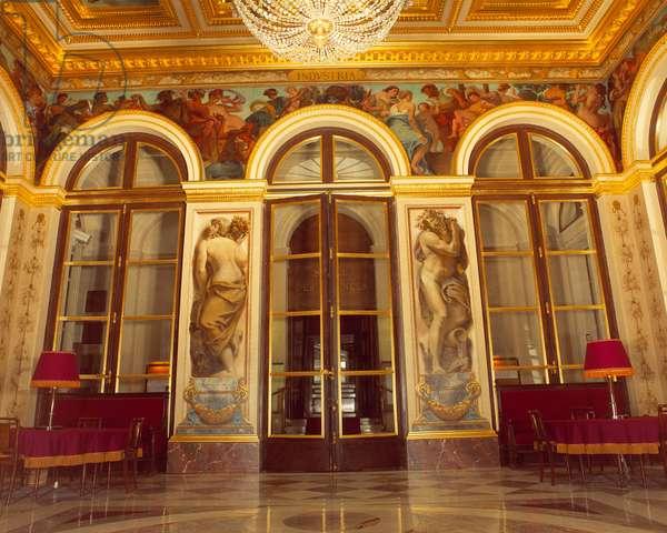 North wall of the king's salon decorates by Eugene Delacroix (1798-1863), 1837. Palais Bourbon. Paris.