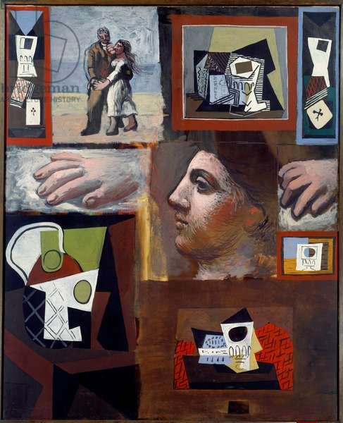 Studies. Oil on canvas. Dim: 1.00 x 0.81m. Painting by Pablo Picasso (1881-1973), 1920. Paris, Musee Picasso.