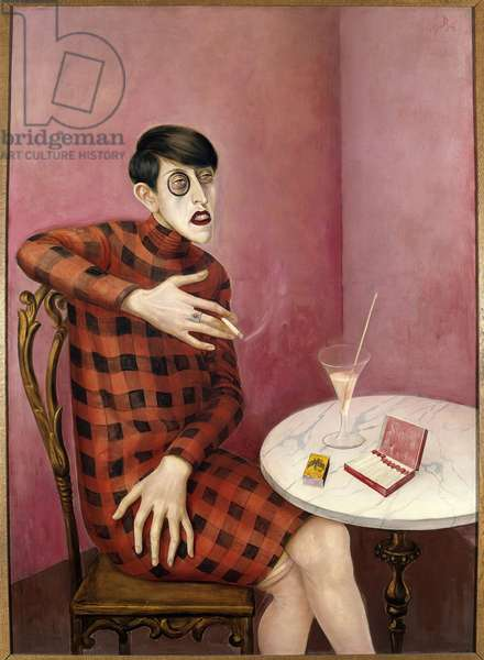 Portrait of journalist Sylvia Von Harden Painting by Otto Dix (1891-1969) 1926 Paris. National Museum of Modern Art