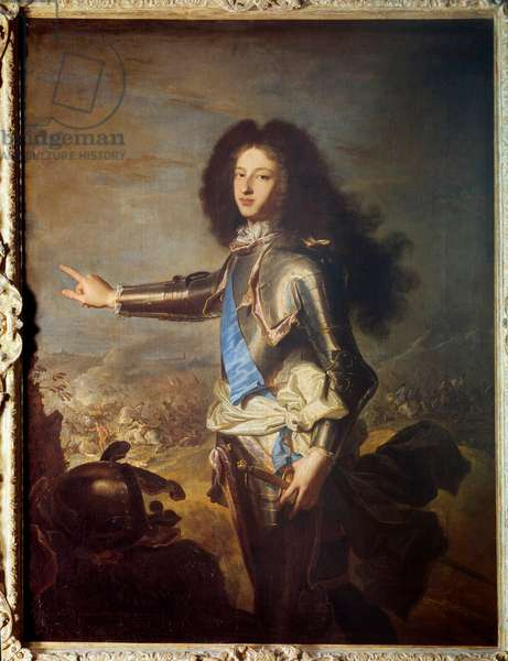 Portrait of Louis of France (1682-1712) Duke of Burgundy, father of Louis XV. Painting by Hyacinthe Rigaud (1659-1743). 18th century. Dim. 1,29 x 0,98 m.