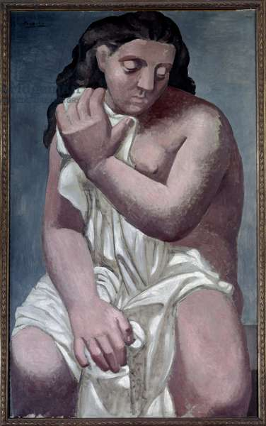 Great nude in drapery Painting by Pablo Picasso (1881-1973) 1923 Paris, Musee de l'Orangerie