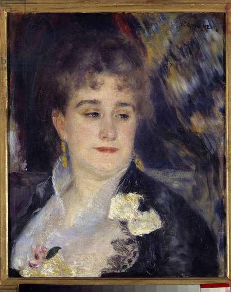 Madame Georges Charpentier, Painting by Pierre Auguste Renoir (1841-1919) 1876 - 1877, 0,46 x 0,38 m, Paris, musee d'Orsay - Portrait of Madame Georges Charpentier, Painting by Pierre Auguste Renoir (1841-1919), 1876 - 1877, 0,46 x 0,38 m, Orsay Museum, Paris