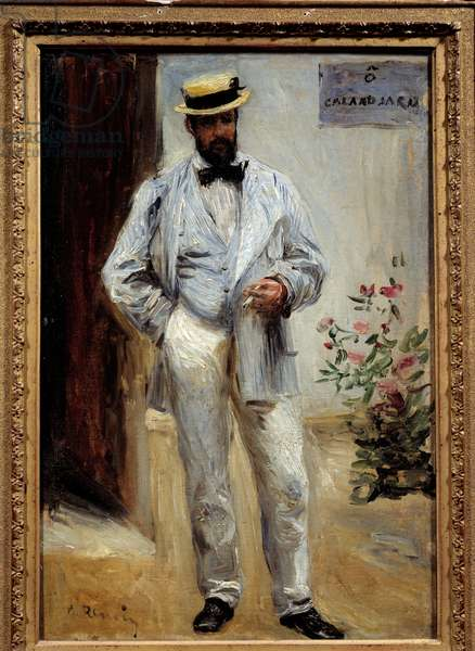 Portrait in foot of Charles Le Coeur (1830-1906), French architect. Painting by Pierre Auguste Renoir (1841-1919), 1874. Oil on canvas. Dim: 0,42 x 0,29m. Paris, Musee d'Orsay