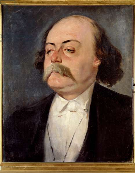 Portrait of Gustave Flaubert (1821 - 1880), French writer, circa 1865. Painting by Eugene Giraud (1806-1881), 19th century. Oil on canvas. Dim: 0.55 x 0.45m.  - Portrait of Gustave Flaubert (1821-1880), French writer, c. 1845. Painting by Eugene Giraud (1806-1881), 19th century. Oil on canvas. 0.55 x 0.45 m.
