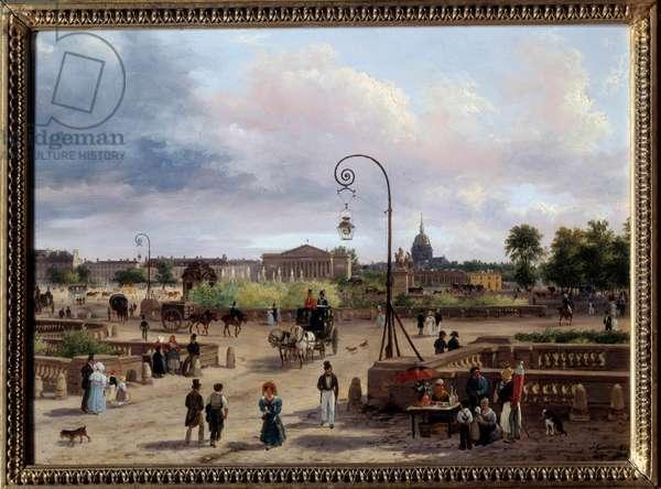 View of the Place Louis XVI (current Place de la Concorde) Painting by Giuseppe Canella (1788-1847) 1829 Sun. 0,29x0,4 m Paris, Musee Carnavalet