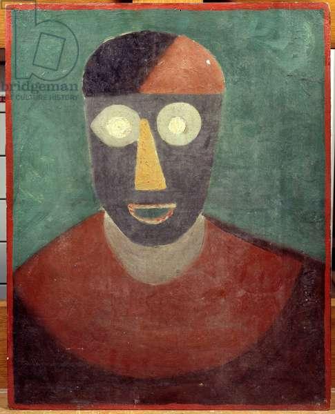 Portrait of Pablo Picasso (1881-1973) Painting by Manuel Ortiz De Zarate (1886-1946) 1925 Dim. 0,41x0,32 m Paris, Musee Picasso