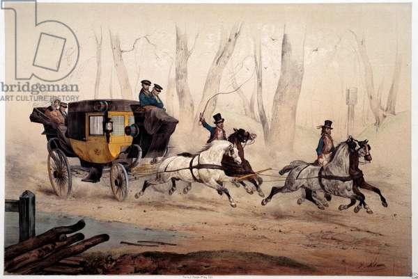 The Post Chair Print by Albert Adam (1833-?) 1870 Paris, Musee Carnavalet