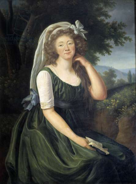 Portrait of Jeanne Becu, Countess (or Madame) du Barry (1743-1793), courtesan and mistress of Louis XV, a Louveciennes at the age of 46 Painting by Marie Elisabeth Louise Vigee Le brun (or Vigee-Lebrun or Vigee Lebrun) (1755-1842). September 1789. Versailles, Lambinet museum