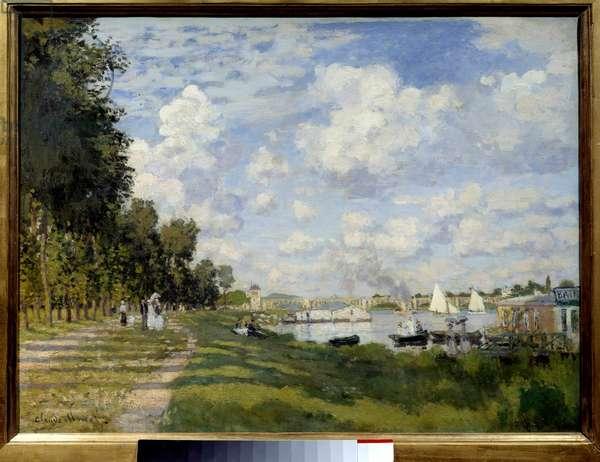 Le bassin d'Argenteuil Painting by Claude Monet (1840-1926) 1872 Sun. 0,6x0,8 m Paris, musee d'Orsay