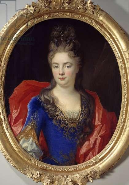 Portrait of Anne Genevieve by Levis Ventadour, Princess of Rohan (b. 1673) Painting by Nicolas de Largilliere (1656-1746), 1696 Sun. 0,8x0,62 m Rouen, musee des Beaux Arts