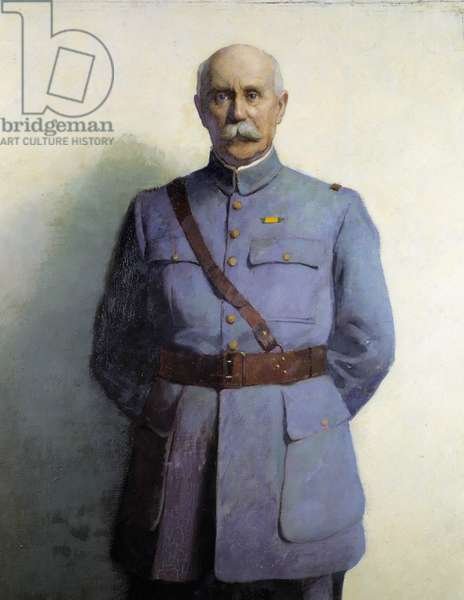 "Portrait of Philippe Petain (1856-1951) marechal of France"" (detail) (oil on canvas)"
