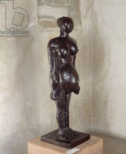 The pregnant woman. Sculpture by Pablo Picasso (1881-1973), 1959. Bronze. Paris, Musee Picasso.