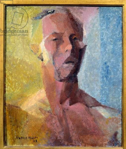 Self-Portrait. Painting by Jacques Villon (1875-1963), 1828. Le Havre, Musee des Beaux Arts.