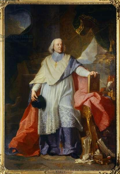 Portrait en pied de Jacques-Benigne (Jacques Benigne) Bossuet (1627-1704), eveque de Meaux Painting by Hyacinthe Rigaud (1659-1743) 1702 Sun. 2,40 x 1,65 m