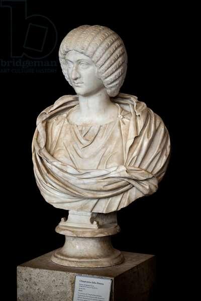 Empress Julia Domna (ca. 170 - 217 AD), marble, Roman art