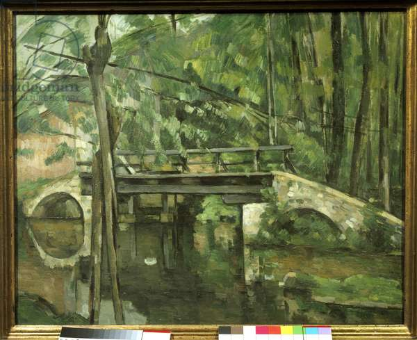 "Maincy Bridge or ""Mennecy Bridge"". Painting by Paul Cezanne (1839-1906) circa 1879. Dim 0.58 x 0.72 m. Paris, Musee d'Orsay"