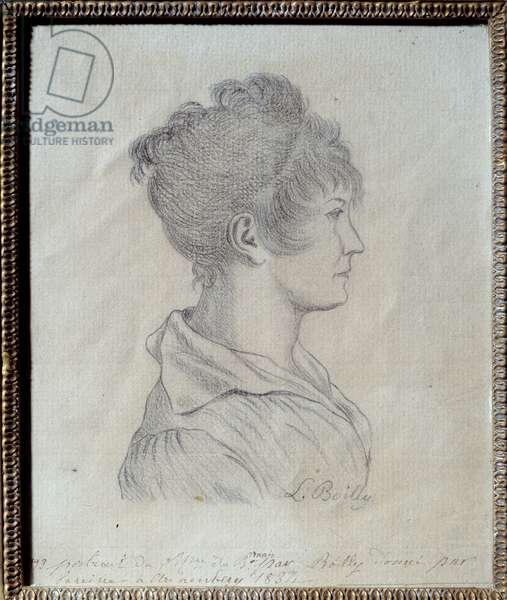Profile Portrait of Josephine de Beauharnais (1763-1814) Drawing by Louis Leopold Boilly (1761-1845) 1793 Sun. 0,17x0,21 m Malmaison, musee du chateau